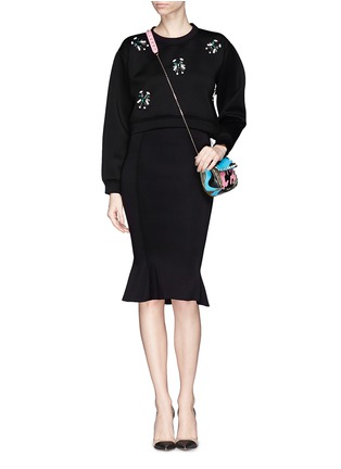 Figure View - Click To Enlarge - Comme Moi - Scuba jersey fishtail midi skirt