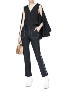 Chloé Contrast topstitching cropped pants