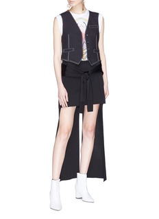 Chloé Contrast topstitching cropped waistcoat