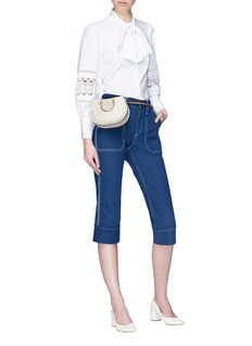 Chloé Turn-up cuff cropped denim pants
