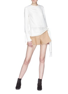 Chloé Pleated virgin wool blend shorts