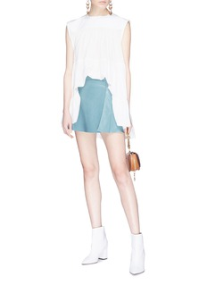 Chloé Tiered silk sleeveless top