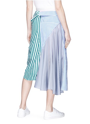 Back View - Click To Enlarge - Sacai - Sleeve tie asymmetric shirt panel skirt