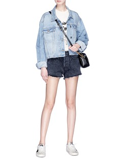Sandrine Rose 'The Doll' zip outseam denim shorts