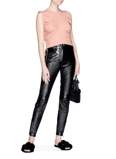 T By Alexander Wang Drawstring outseam high twist cropped top