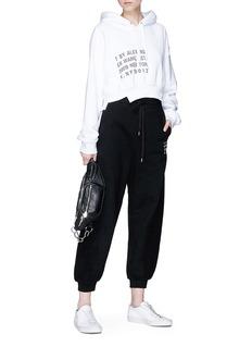 T By Alexander Wang Logo print sweatpants