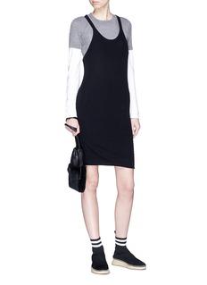T By Alexander Wang Layered knit tank dress