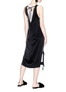 T By Alexander Wang Racerback underlay tie heavy draped satin dress