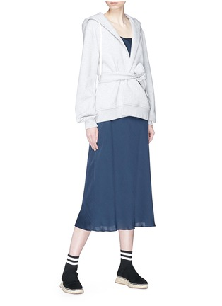 Figure View - Click To Enlarge - T By Alexander Wang - Wrap hoodie