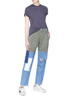 Sandrine Rose 'The Joshua' denim patchwork gabardine cargo pants