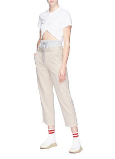 T By Alexander Wang French terry waist panel chinos