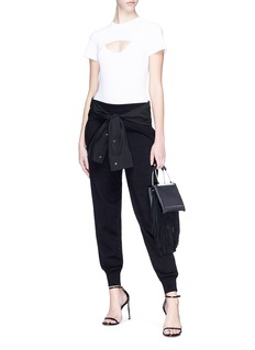 T By Alexander Wang Sleeve tie knit jogging pants