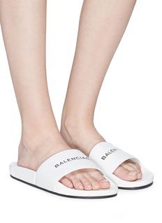 Balenciaga Logo print pool slide sandals