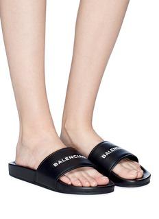 Balenciaga ''Pool' logo print slide sandals