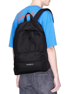Balenciaga 'Explorer' logo patch canvas backpack