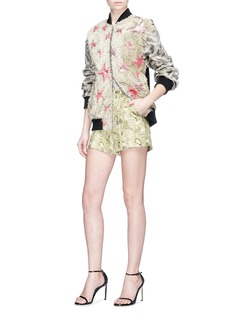 Dries Van Noten Metallic jacquard shorts