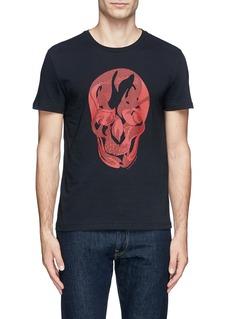 ALEXANDER MCQUEENContrast pattern skull print T-shirt