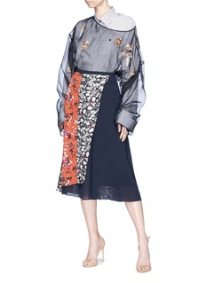 Dries Van Noten 'Coltre' embellished silk organza top