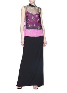 Dries Van Noten Embellished sheer silk sleeveless top