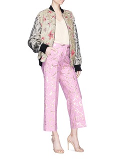 Dries Van Noten 'Prope' crack effect jacquard cropped pants