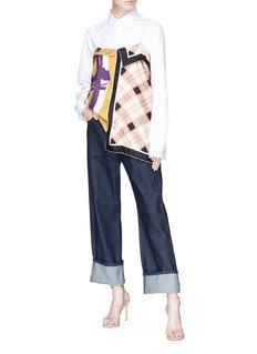 Dries Van Noten Graphic print scarf patchwork camisole top