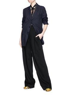 Dries Van Noten 'Capios' embellished collar silk organza shirt