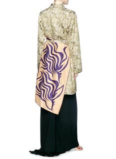 Dries Van Noten Scarf panel graphic jacquard robe jacket