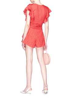 C/Meo Collective  'More to Give' ruffle wrap playsuit