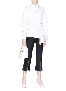 C/Meo Collective  'Confessions' zigzag topstitching cropped suiting pants