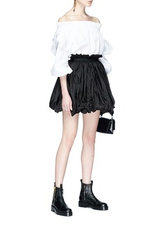 Alexander McQueen Ruched faille balloon skirt