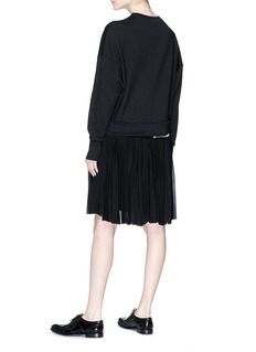 Alexander McQueen Pleated skirt zip hem sweatshirt dress