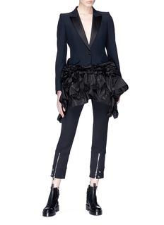 Alexander McQueen Ruffle peplum suiting blazer