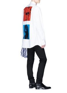 Calvin Klein 205W39NYC Dennis Hopper + Sandra Brant插画印花府绸衬衫