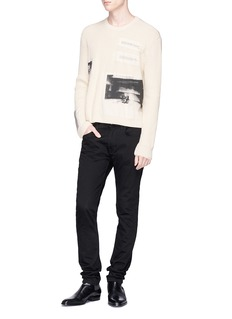 CALVIN KLEIN 205W39NYC 'Little Electric Chair + 5 Deaths' appliqué sweater