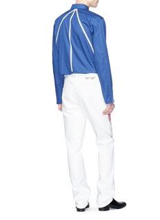 CALVIN KLEIN 205W39NYC Contrast trim pleated back shirt