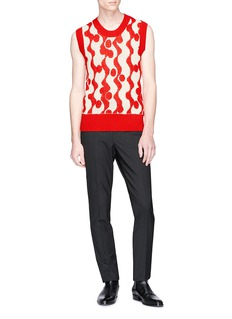 CALVIN KLEIN 205W39NYC 'Wave' intarsia sleeveless sweater