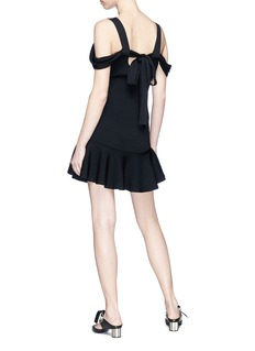 C/MEO COLLECTIVE  Scope系带荷叶边针织裙