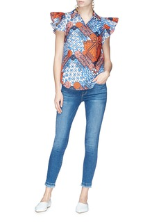 STELLA MCCARTNEY 荷叶边衣袖几何图案衬衫