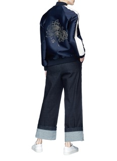 Stella McCartney Floral embellished bomber jacket