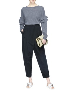 Stella McCartney Drop crotch twill cropped pants