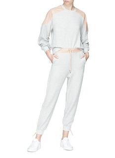 STELLA MCCARTNEY 皮革拼贴棉质卫衣