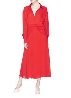 Victoria Beckham Twist skirt yoke silk jersey dress
