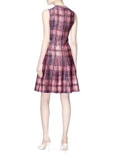 Victoria Beckham Check plaid jacquard silk-wool flared dress