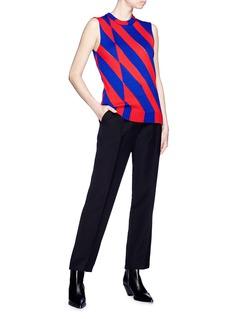 CALVIN KLEIN 205W39NYC Diagonal stripe sleeveless knit top