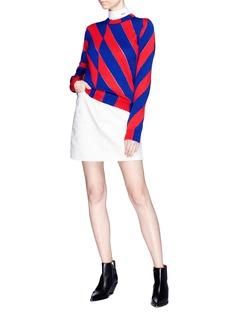 CALVIN KLEIN 205W39NYC Diagonal stripe knit sweater