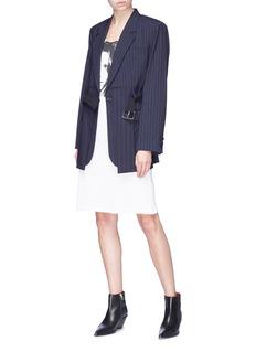 CALVIN KLEIN 205W39NYC 'Sandra Brant' print rib knit dress