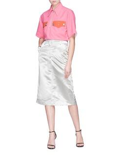 CALVIN KLEIN 205W39NYC Satin pencil skirt