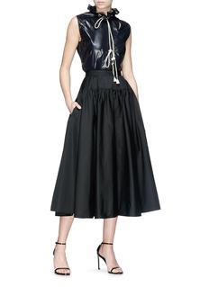 CALVIN KLEIN 205W39NYC Flared poplin skirt