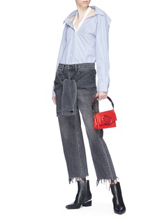 Alexander Wang  Detachable sleeve tie cropped jeans