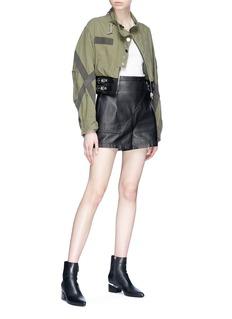 Alexander Wang  Harness cropped army jacket